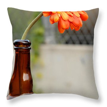 Throw Pillow featuring the photograph The Beer Garden by Lena Wilhite