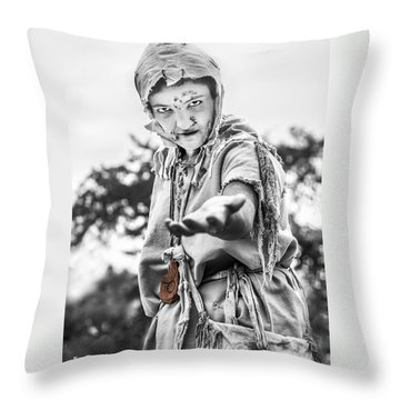 Throw Pillow featuring the photograph The Begging Leprous by Stwayne Keubrick