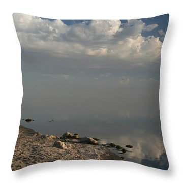 The Beginning And The End Throw Pillow by Laurie Search