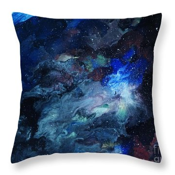 The Beginning Throw Pillow by Arlene Sundby