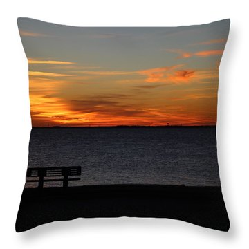 Throw Pillow featuring the photograph The Bench by Faith Williams