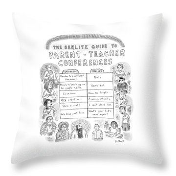 'the Berlitz Guide To Parent-teacher Conferences' Throw Pillow