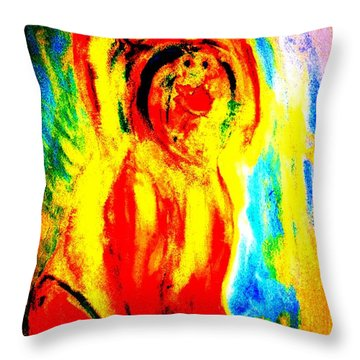 I Am So Happy Today, I Could Kiss Anyone  Throw Pillow