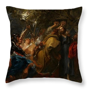 The Betrayal Of Christ Throw Pillow by Anthony Van Dyck