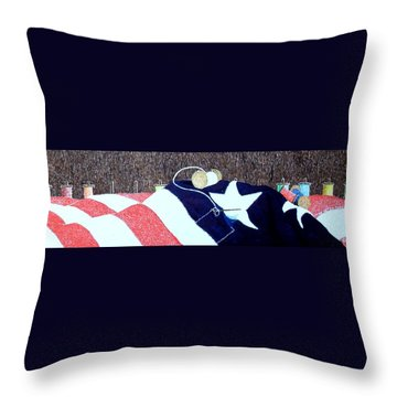 The Betsy Threads Throw Pillow by A  Robert Malcom
