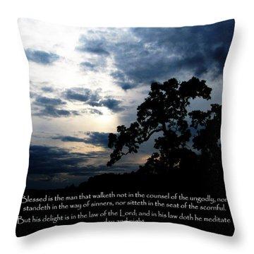 The Bible Psalm 1 Throw Pillow