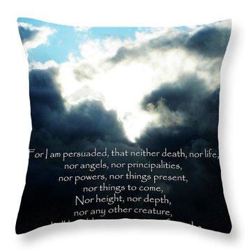 The Bible Romans 8 Throw Pillow