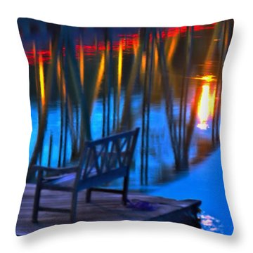 The Bidge At Sunset Throw Pillow