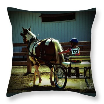 Throw Pillow featuring the photograph The Big And The Tiny by Gena Weiser
