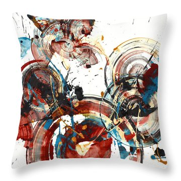 Throw Pillow featuring the painting The Big Bang by Kris Haas