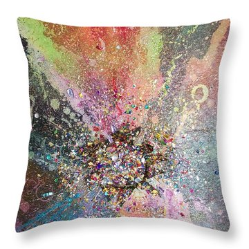 The Big Bling Theory Throw Pillow