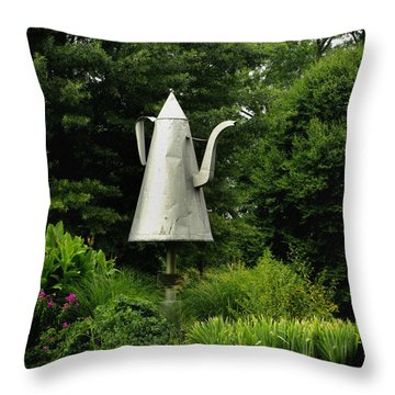 The Big Coffee Pot Throw Pillow by James C Thomas