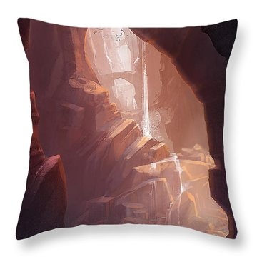 Cave Throw Pillows