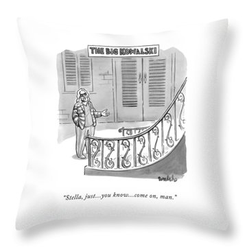 The Big Kowalski -- Main Character Of The Big Throw Pillow