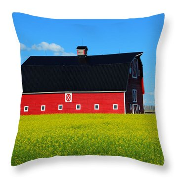 The Big Red Barn Throw Pillow by Bob Christopher