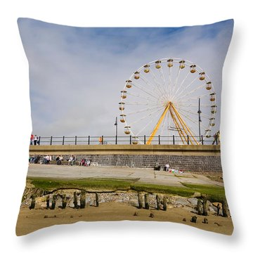 The Big Wheel And Promenade, Tramore Throw Pillow