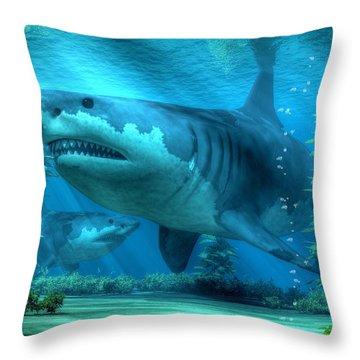 The Biggest Shark Throw Pillow