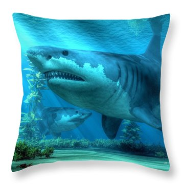 The Biggest Shark Throw Pillow