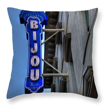 The Bijou Theatre - Knoxville Tennessee Throw Pillow