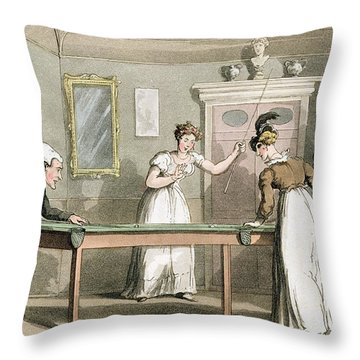 The Billiard Table, From The Tour Of Dr Throw Pillow