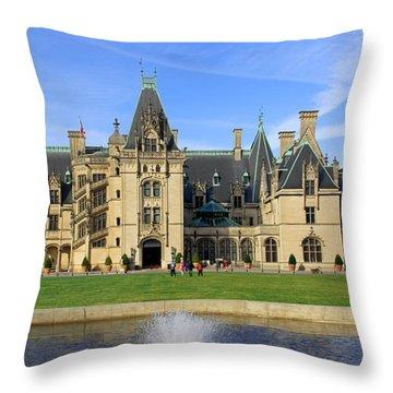 The Biltmore Estate - Asheville North Carolina Throw Pillow