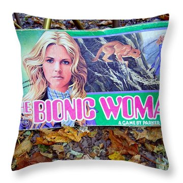 The Bionic Woman Throw Pillow