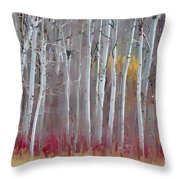 The Birches - Single Throw Pillow by Andrea Kollo
