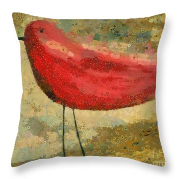 The Bird - K03b Throw Pillow by Variance Collections
