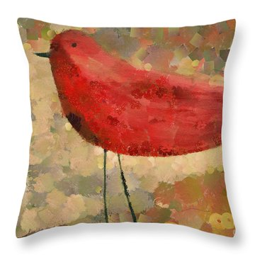 The Bird - K04d Throw Pillow by Variance Collections