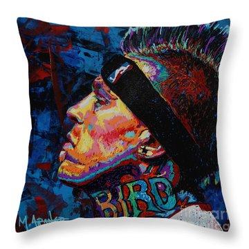 The Birdman Chris Andersen Throw Pillow by Maria Arango