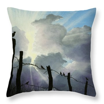 The Birds - Make A Joyful Noise Throw Pillow