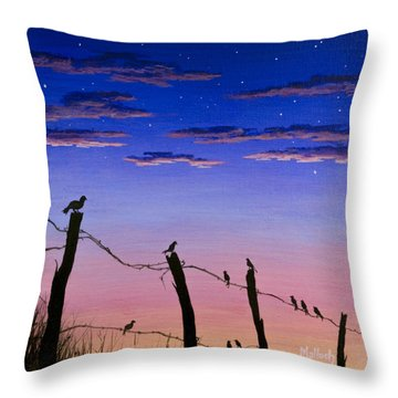 The Birds - Morning Has Broken Throw Pillow