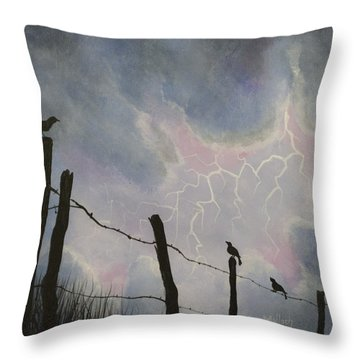 The Birds - Watching The Show Throw Pillow