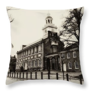 The Birthplace Of Freedom Throw Pillow by Bill Cannon
