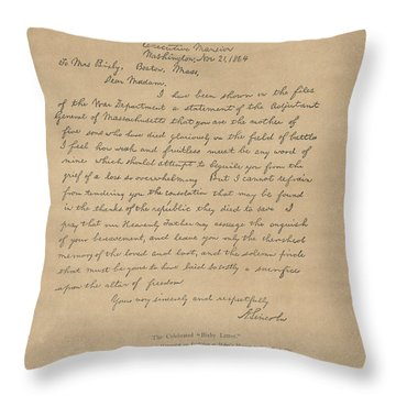 The Bixby Letter Throw Pillow