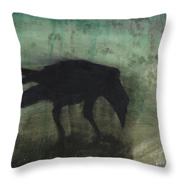 The Black Flag Of Himself Throw Pillow by Jim Stark