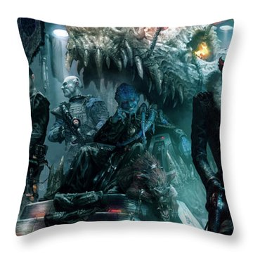 The Black Hole Gang Throw Pillow