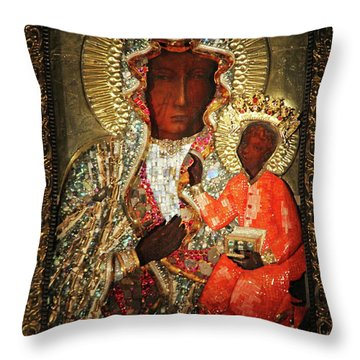 The Black Madonna Throw Pillow