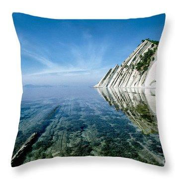 The Black Sea Coast Throw Pillow by Vladimir Sidoropolev