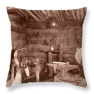 The Blacksmith Shop Throw Pillow