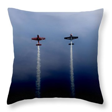 Throw Pillow featuring the photograph The Blades Going Up Sunderland Air Show 2014 by Scott Lyons