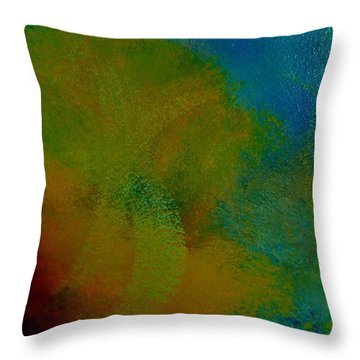 Throw Pillow featuring the painting The Blend by Lisa Kaiser