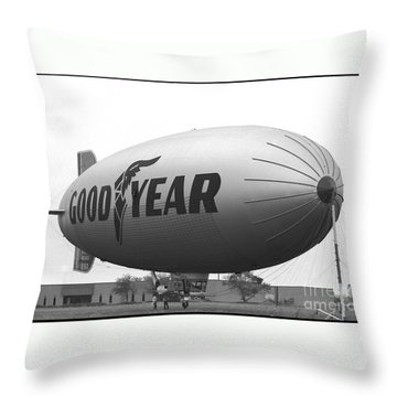 The Goodyear Blimp In 1979 Throw Pillow