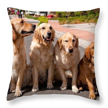 The Blond Team Throw Pillow