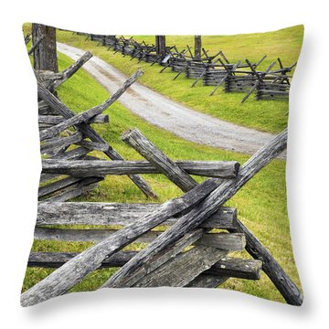 The Bloody Lane At Antietam Throw Pillow by Paul W Faust -  Impressions of Light