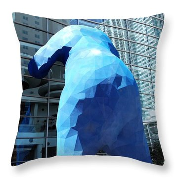 Throw Pillow featuring the photograph The Blue Bear by Dany Lison