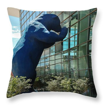 The Blue Bear  Throw Pillow