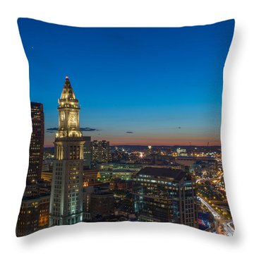 The Blue Begins Throw Pillow