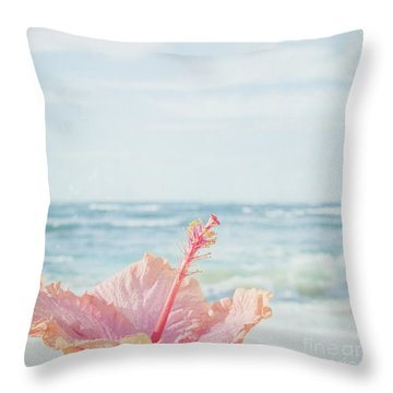 Throw Pillow featuring the photograph The Blue Dawn by Sharon Mau