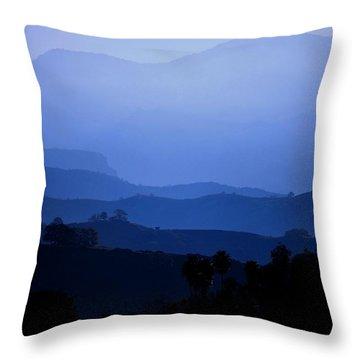Throw Pillow featuring the photograph The Blue Hills by Matt Harang